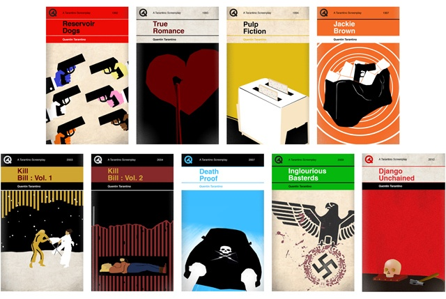 Quentin Tarantino films meet classic book covers. Awe. Some.