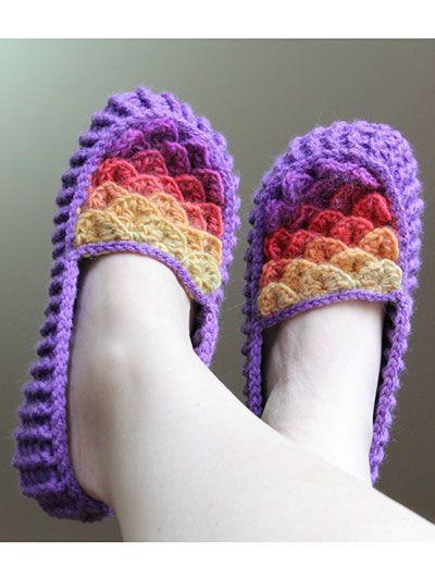 Crocodile Stitch Loafers - Adult