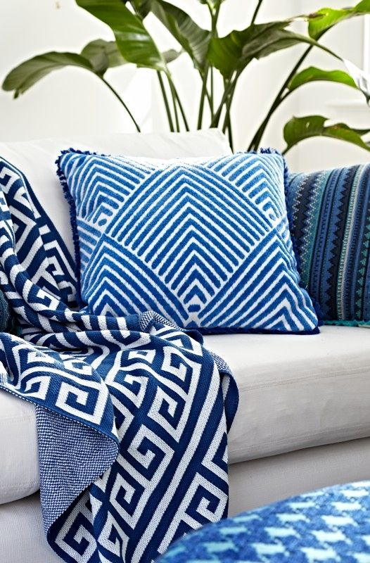 Versatile And Contemporary, Our Carved Diamond Royal Outdoor Pillow  Brightens A Deck Or Patio With