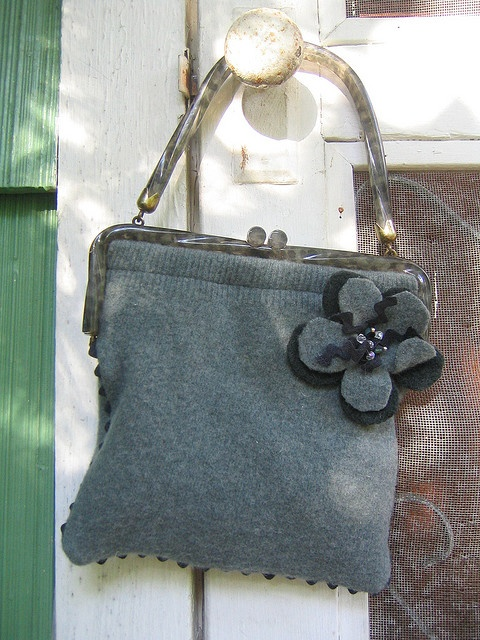 sweet little recycled sweater purse