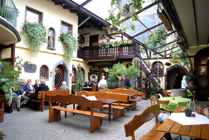 #antoniushof #beer garden #benches #beverages #covered #cozy #dining tables #drink #dry #eat #economy #einkehr #gastronomy #human #inn #koblenz #lifestyle #meal #middle rhine #people talking #restaurant #sit #wine bar