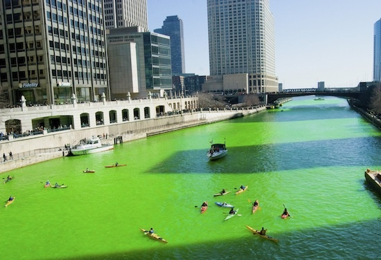 Did you know that Chicago turns its river green each year for St. Patrick's Day?! How fun and yes, eco-friendly too!
