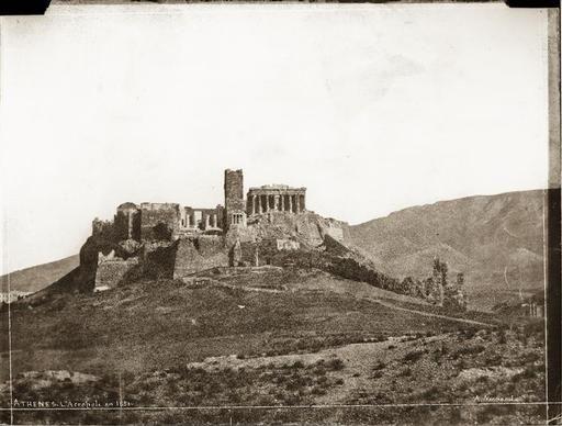 Athènes, L'Acropole en 1851 - Normand Alfred-Nicolas (1822-1909) - Arago