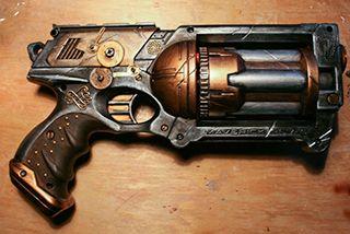 Aurons-nous des marquis Steam ? Tutoriel pour créer votre arme !  http://www.ethiscrea.com/2009/11/customisation-nerf-maverick-steampunk.html  Customisation Nerf Maverick Steampunk | Ethis Crea