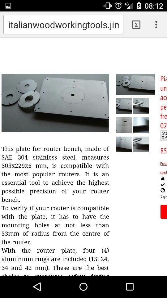 Router insert plate for router bench