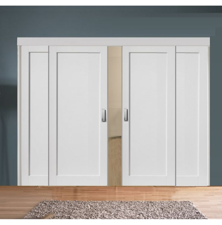 Sliding Room Divider with White Pattern 10 Doors