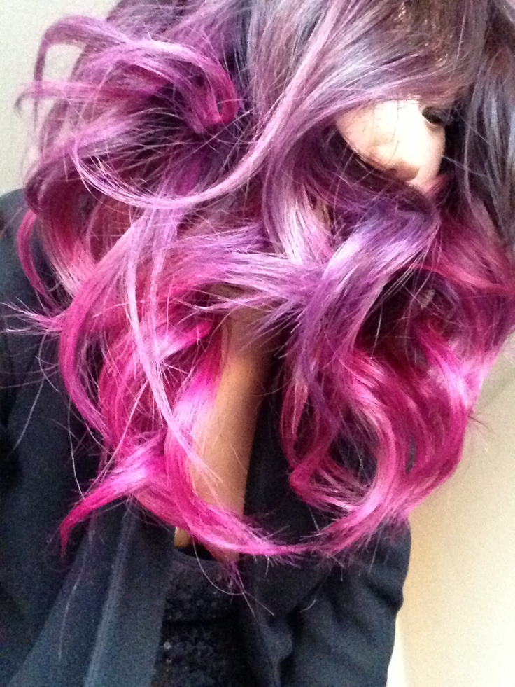 pink   purple ombre ha...
