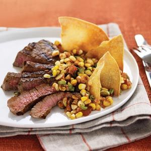 The vibrant flavor of the salsa paired with a quick-cooking chiptole steak makes the perfect combo.
