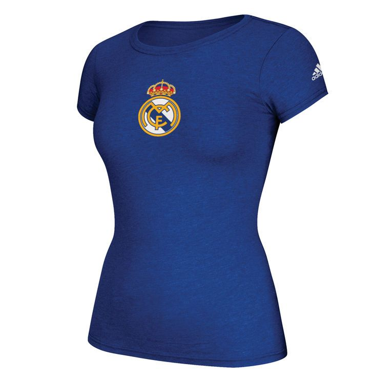 Real Madrid adidas Women's Team Crest T-Shirt - Royal - $27.99