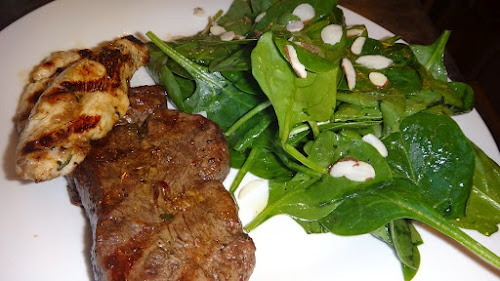 Grilled Beef Tenderloin Steaks and a Spinach Salad -perfect dinner ...