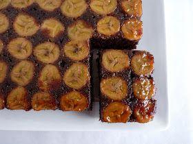 :pastry studio: Chocolate Banana Upside Down Cake
