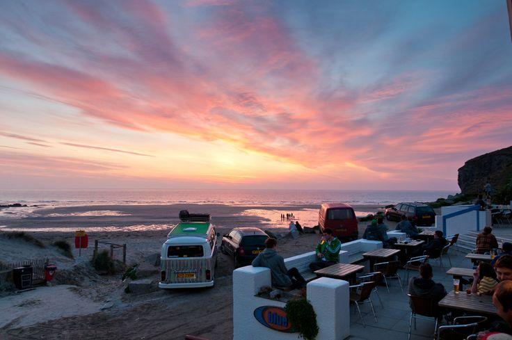 Porthtowan beach seafront restuarant Cornwall   Blue Bar - so much love for this place