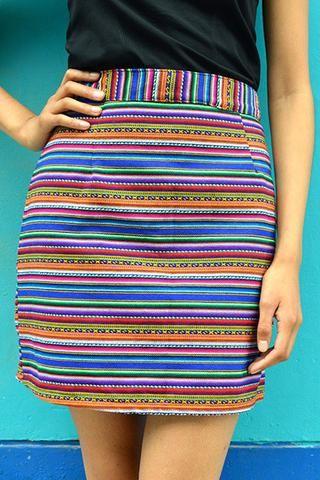 Tela Andina Skirt - Multicolor Andino