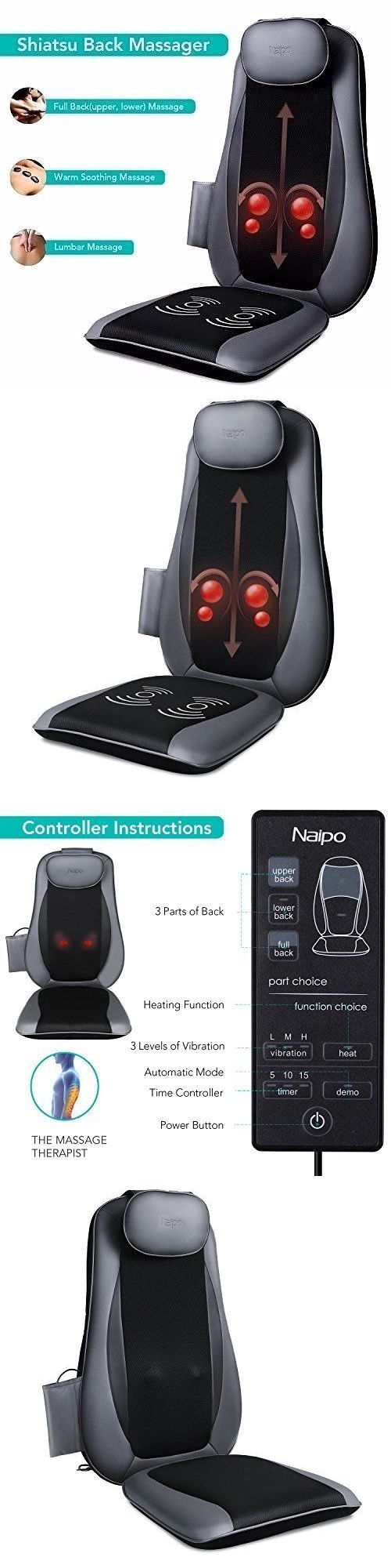 Electric Massage Chairs: Seat Massage Cushion Professional Shiatsu And Deep Kneading With Heat And Vibration -> BUY IT NOW ONLY: $184.68 on eBay!