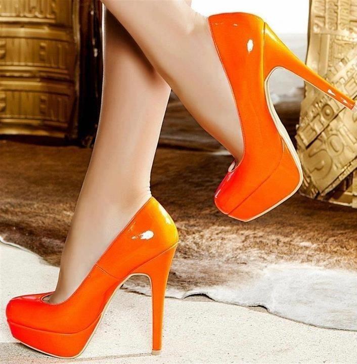 Sexy Orange Heels - Red Heels Vip