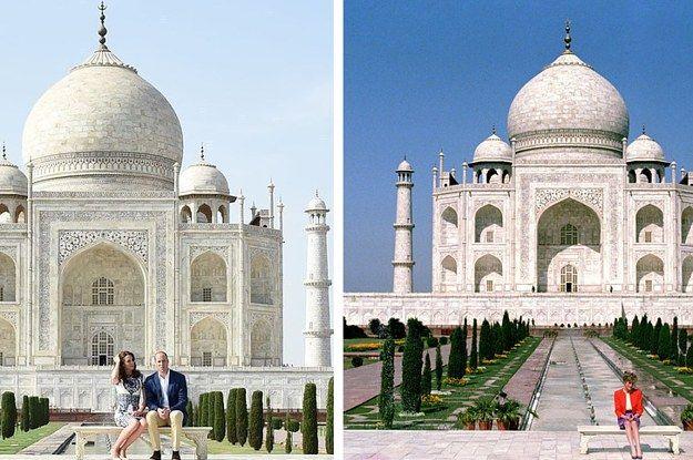 William And Kate Recreated This Photo Princess Diana Took At The Taj Mahal - BuzzFeed News