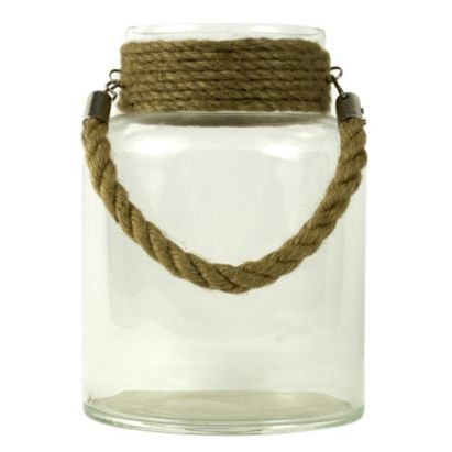 An indoor glass hurricane lantern will add a rustic touch to your room #BalticSummer #Lantern