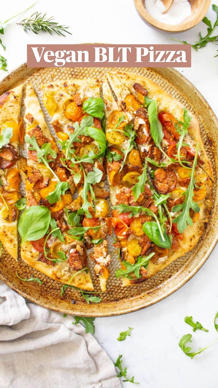 Vegan Appetizers, Vegan Dinner Recipes, Vegan Dinners, Pizza Recipes, Vegetarian Recipes, Healthy Recipes, Vegan Pizza Recipe, Weeknight Dinners, Appetizers For Party