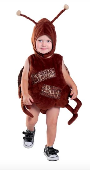 get some laughs this halloween with your little one dressed as a stink bug it has a plushy body and a matching headpiece - Size 18 Halloween Costumes