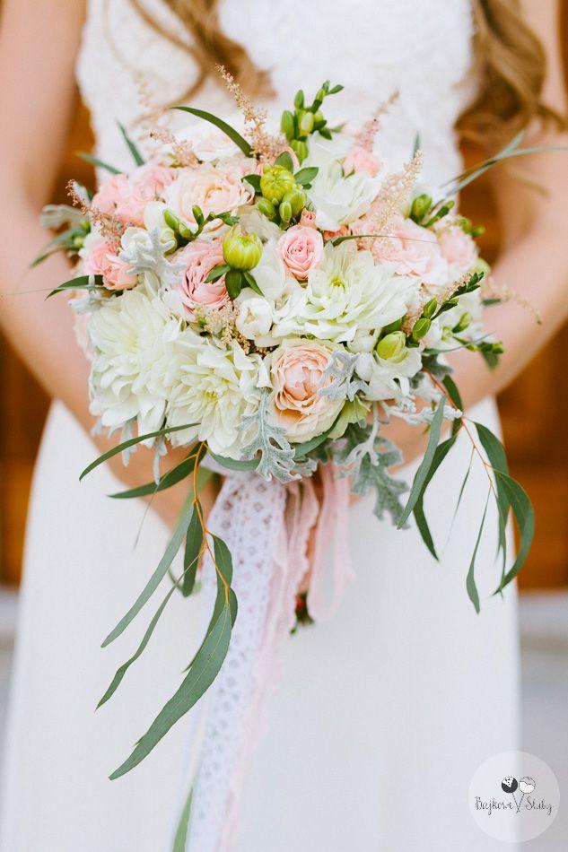 INNA Studio_ bridal bouquet / pastelowy bukiet ślubny / jasny / fot. Bajkowe Śluby