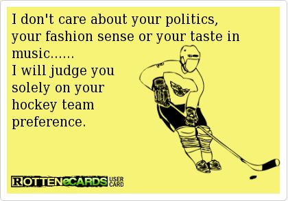 I tend to live and let live when it comes to hockey teams EXCEPT if you are a Leaf fan.....then I  judge you and it's not flattering.....
