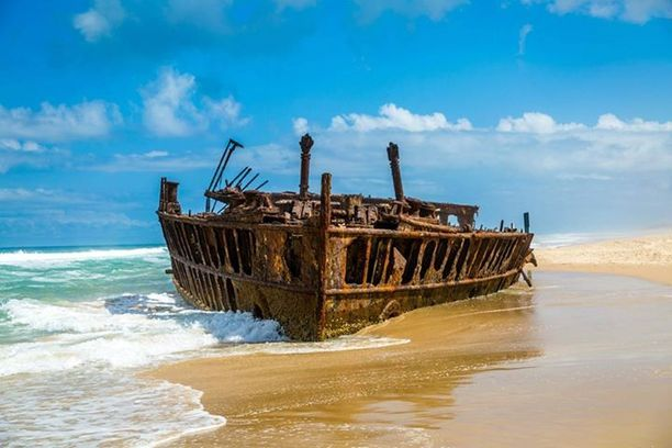What is left of the S.S. Maheno... Discovered by Allison Burn at Fraser Island, Fraser Island, Australia