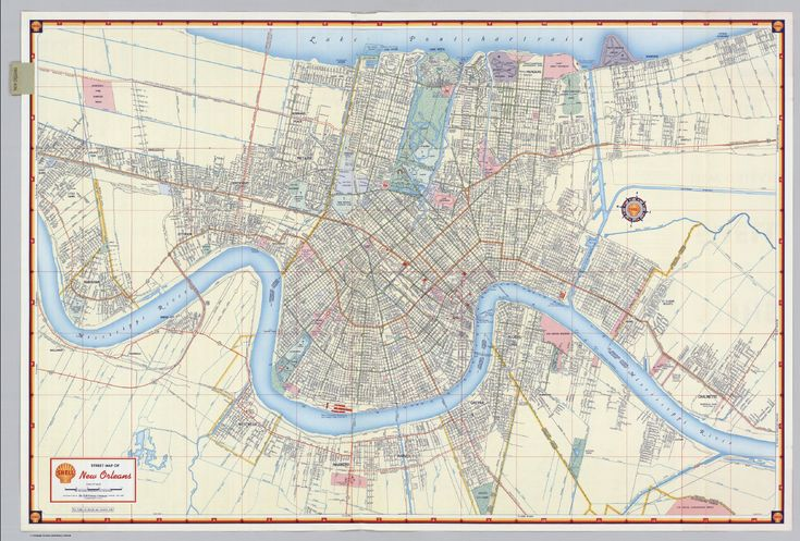 shell street map of new orleans david rumsey historical map