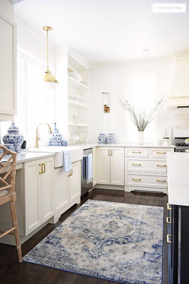 Spring Kitchen Decorating Ideas Blue Kitchen Decor Blue White