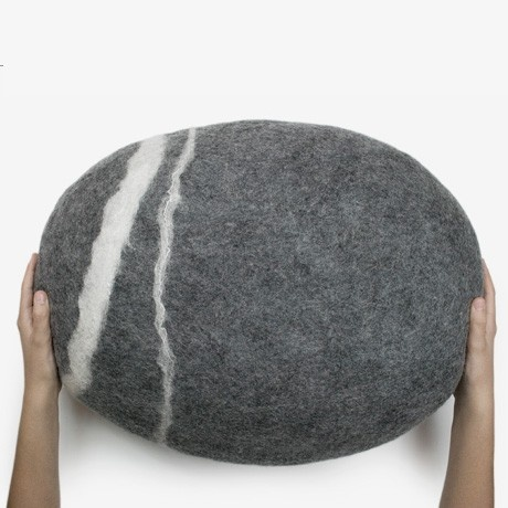 looks like a stone, is actually a woolen cushion Fantastic furniture Pinterest Stone ...