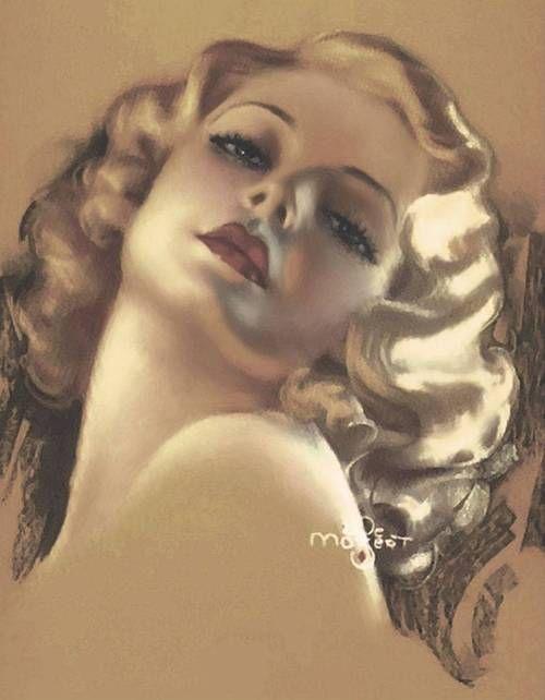 Bewitching Eyes (c.1930) by Zoë Mozert