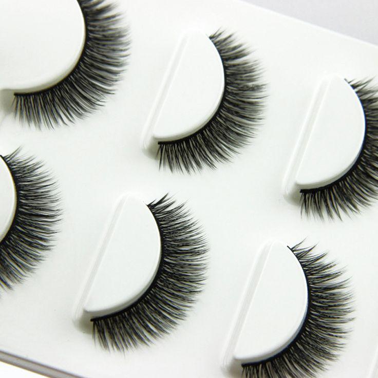 3 Pair Crisscross False Eyelashes For Building Artificial Eyelashes Long Thick Fake Eyelash Makeup Tips False Lashes Extensions #Affiliate