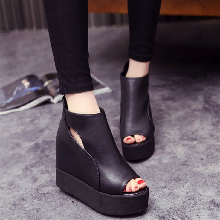 Wedges Female Sandals 2015 Melissa Jelly Shoes Solid Platform Open Toe High-Heeled Shoes