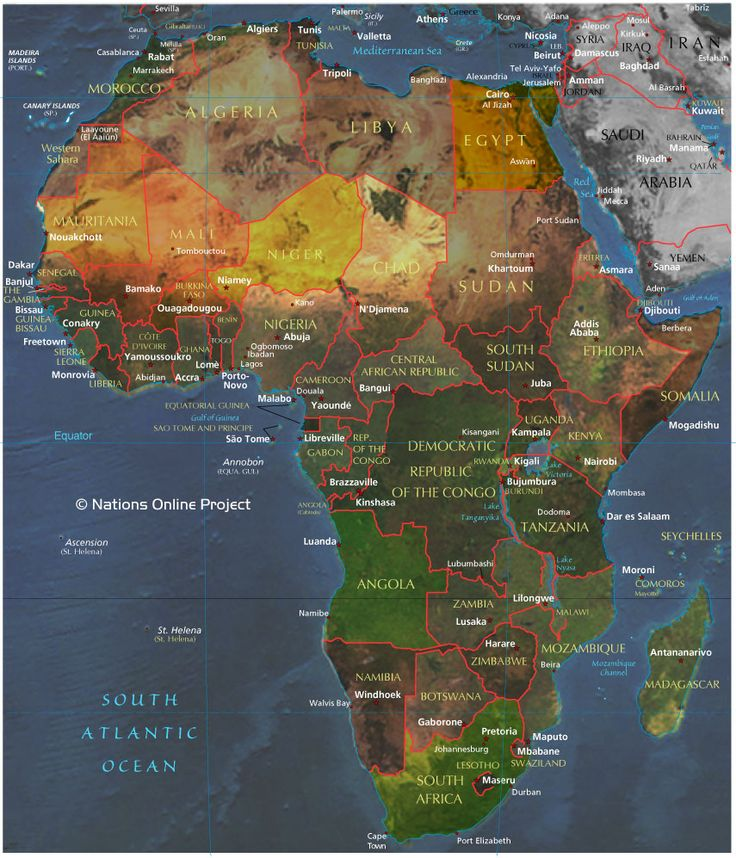 Reference Map of Africa 1437 best World