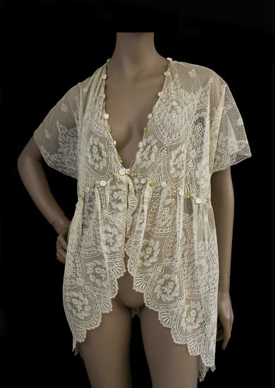 lace boudoir jacket c 1905 from the vintage textile