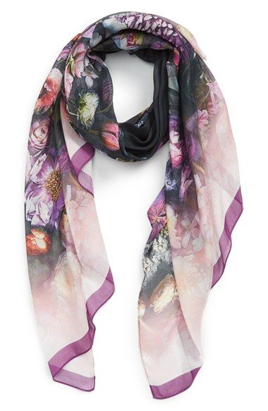 Ted+Baker+London+'Shadow+Floral'+Scarf+available+at+#Nordstrom