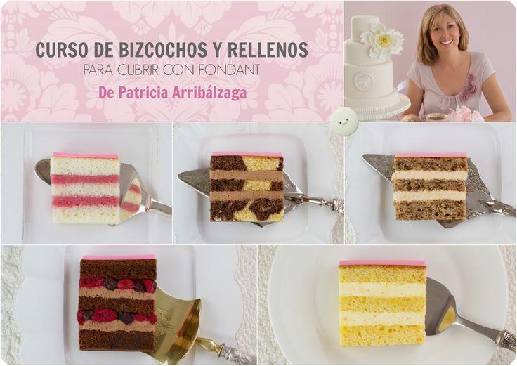 CURSO ONLINE DE BIZCOCHOS Y RELLENOS de Patricia Arribálzaga. Con vídeos de varias horas de duración  y recetas.  Ya disponible en : http://www.cakeshautecouture.com/cursos/