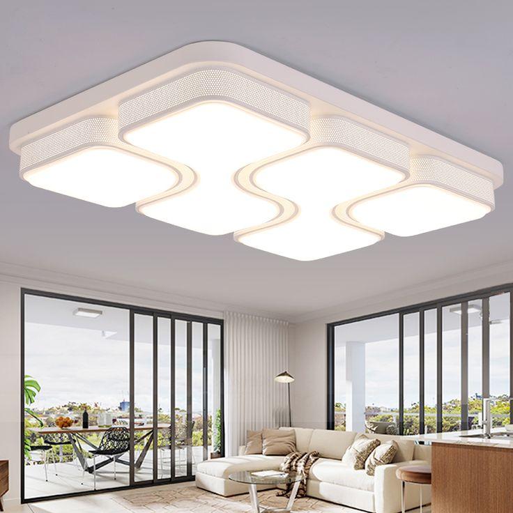 Black / White Modern LED Ceiling Lights For Living Room Bedroom 95 265 In  Interior Part 97