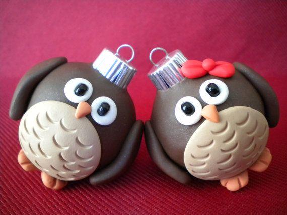 Owl Christmas Ornaments!