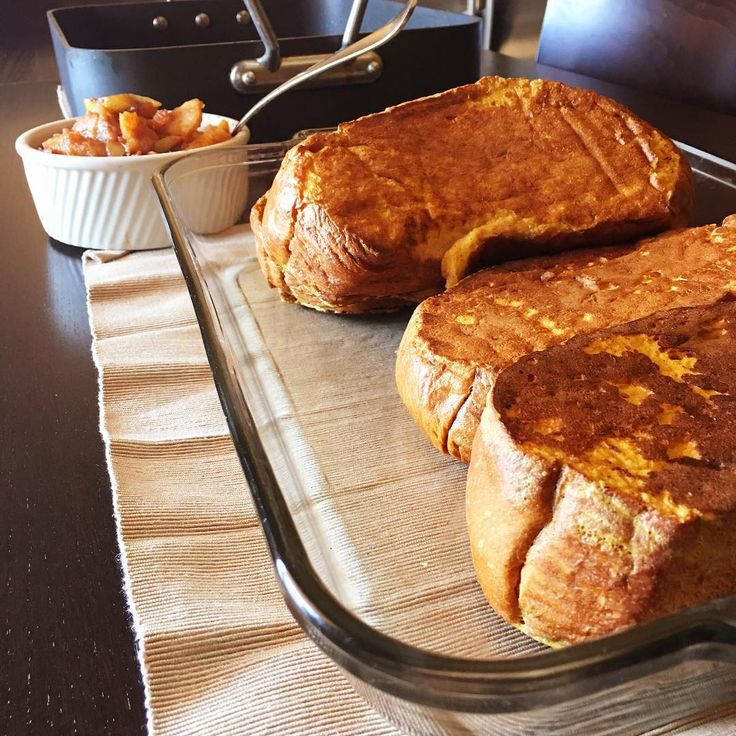 Pumpkin French Toast with Apple Maple Compote