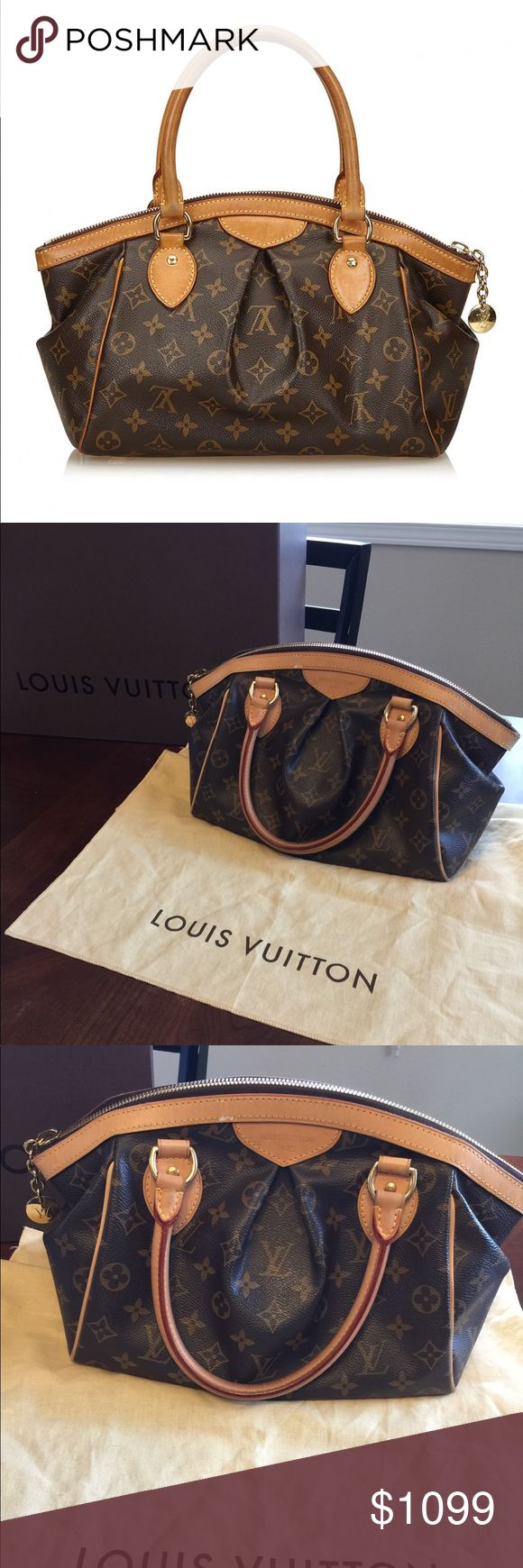 """louis vuitton tivoli Bag The tivoli features a monogram body, rolled leather straps, top zip closure, and interior slip pockets. Item Dimensions: length 36 cm width 21 cm depth 16 cm hand drop 5.5"""" dust bag louis vuitton pieces do not come with an authenticity card— date code Excellent clean condition authentic maybe used 1-2 times Louis Vuitton Bags Satchels"""