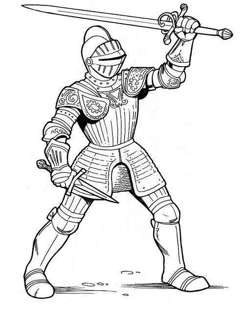 Раскраски рыцари | Детвора Онлайн | Målarbok, Riddare, Mandala