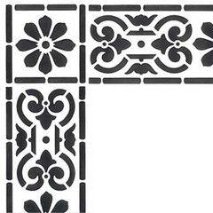 """Classical Border & Corner Stencils 15.5"""" x 3.5"""" Set comes with 3.75"""" x 3.75"""" corner stencil"""
