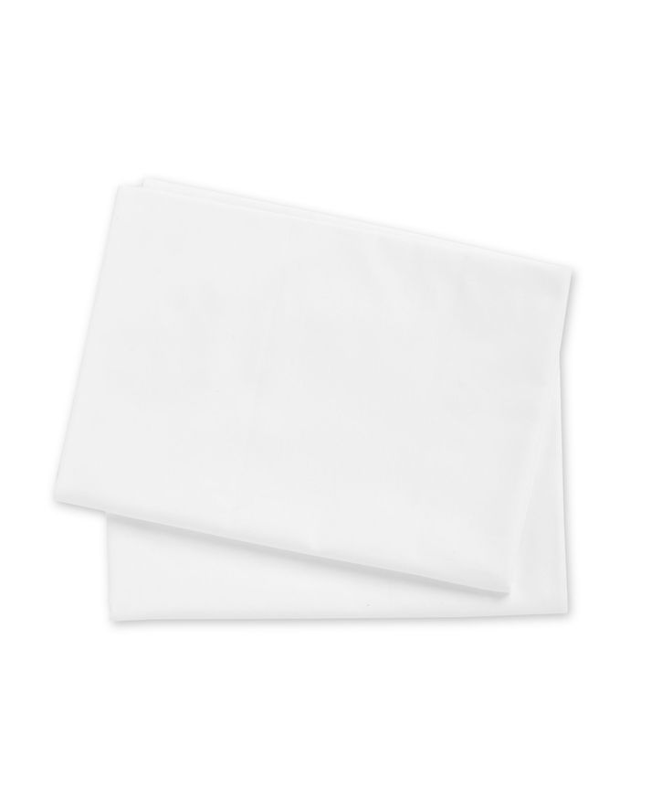 Mothercare Moses Basket or Crib Cotton Flat Sheets- 2 Pack White