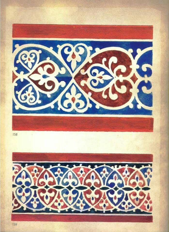 Serbian fresco pattern