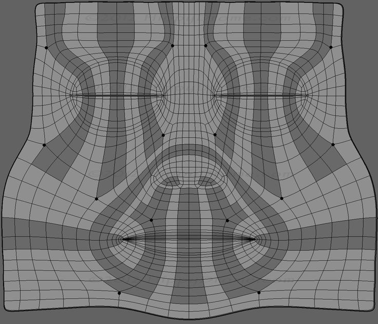 One possible face topology example