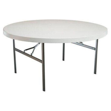 Mesa redonda plegable 180 cm | Tusmesasplegables.com
