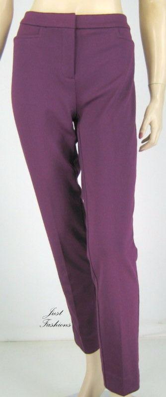 Jones New York Plum Wine Pants 29.5 Inseam Size 4 New 9020 #JonesNewYork #DressPants