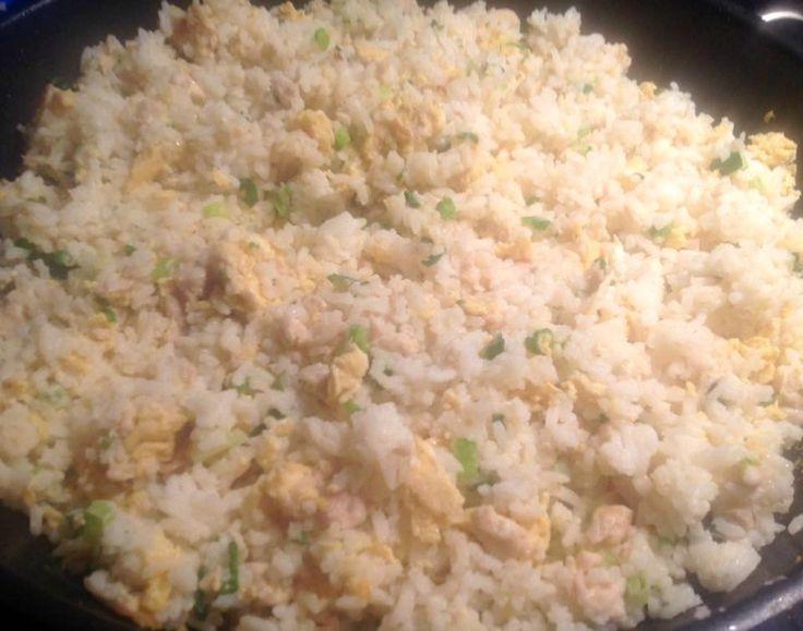 Chinese gebakken rijst met ei