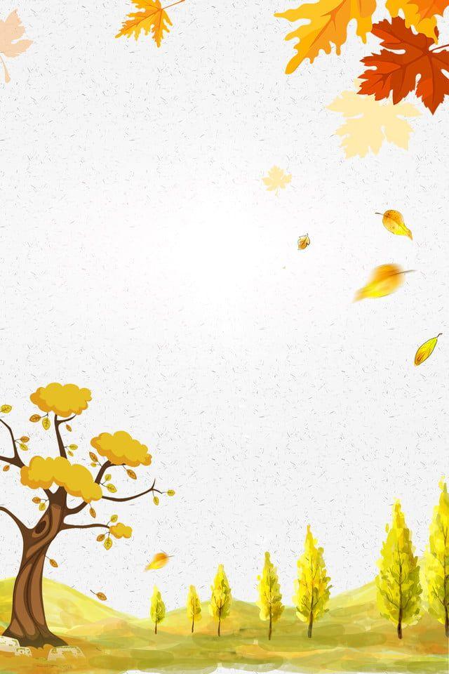 الخريف الخريف سقوط أوراق المشارك لى تشيو فصل الخريف سقط ورقة Autumn Leaves Yellow Leaves Hand Drawn Leaves
