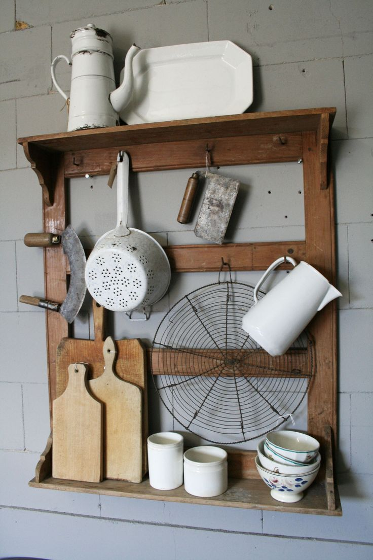 For the kitchen - this amazing repurposed rack to hold your kitchen gadgets and…